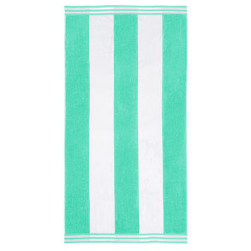 Wayfair Basics Superior Oversized Cotton Cabana Stripes Beach Towel Color: Mint