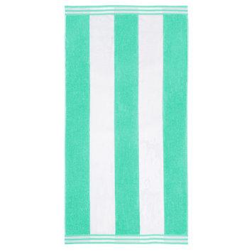Wayfair Basics Superior Oversized Cotton Cabana Stripes Beach Towel Color: Mint