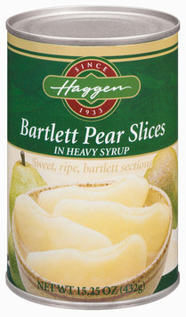 Haggen Bartlett Slices In Heavy Syrup Pears 15.25 Oz Can