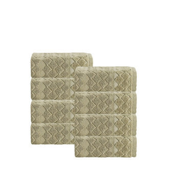 Enchante Home Isola Turkish Cotton Wash Cloth Color: Olive