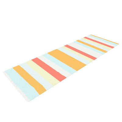 Kess Inhouse Sand Stripes by Nika Martinez Yoga Mat