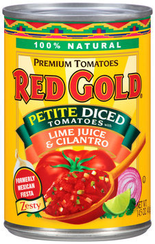 Red Gold® Petite Diced Tomatoes with Lime Juice & Cilantro 14.5 oz. Can
