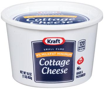 Kraft Small Curd 4% Milkfat Min. Cottage Cheese 16 oz. Tub