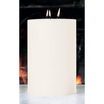 Global Views Unscented 3 Wick Pillar Candle Size: 6