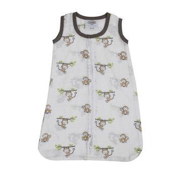 Bacati Happy Monkeys Sleep Sack Size: Newborn, Color: Biege