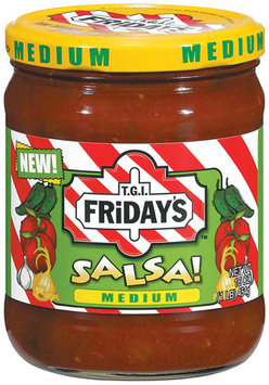 T.G.I. FRIDAY'S Medium Salsa 16 OZ JAR