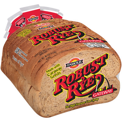 Lewis® St. Louis Famous Style Gateway® Robust Rye Bread 16 oz. Loaf