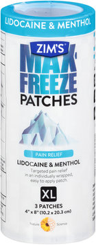 Zim's® Max-Freeze Pain Relief Patches XL 4 ct Container