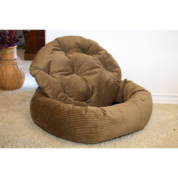 Luca For Dogs Nest Easy-Wash Cover Donut Dog Bed Color: Pecan, Size: Extra Small (20
