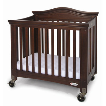 Foundations Royale Folding Compact Crib in Antique Cherry
