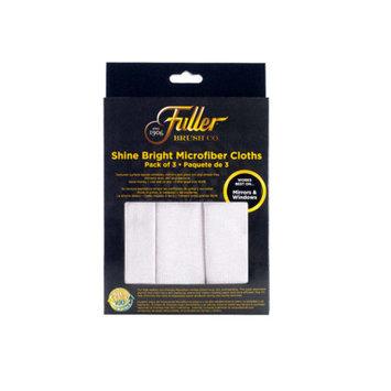Fuller Brush Shine Bright Window/Mirror/Glass Microfiber Cloths (3 Pack)