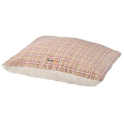Alpha Pro Tech SF-3242-S-8AX6 Alpha Pooch Softie Tan and Red Plaid-Natural Faux LambskinLarge