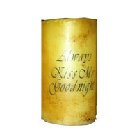 Starhollowcandleco Always Kiss Me Good Night Pillar Candle Size: 6