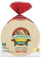 Guerrero Corn De Maiz Blanco King Size Tortillas 30 Ct Bag