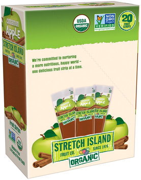 Stretch Island® Cinnamon Apple Organic Fruit Strips 20-0.5 oz. Packs