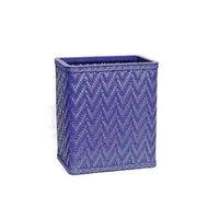 Redmon S423nm Elegante Decorator Color Wicker Wastebasket - Nutmeg