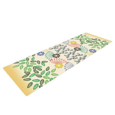 Kess Inhouse Flowers and Leaves Pattern by Famenxt Abstract Geometric Yoga Mat