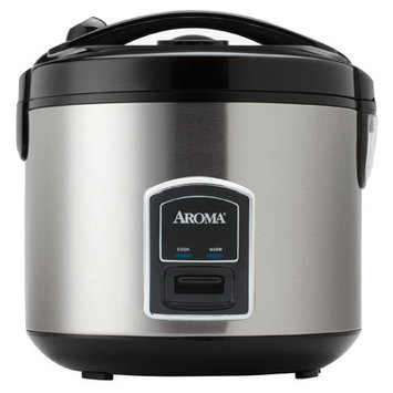 Aroma 20-Cup Stainless Steel Cool Touch Rice Cooker