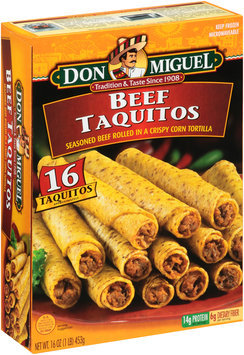 Don Miguel® Beef Taquitos 16 ct Box