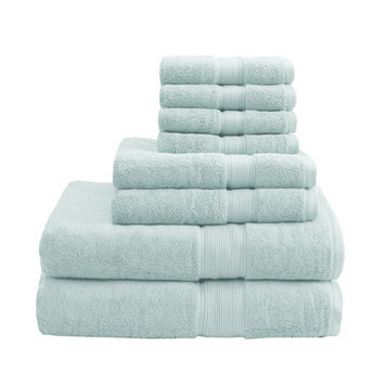 Madison Park Signature 800 GSM Cotton 8 Piece Towel Set Color: Seafoam