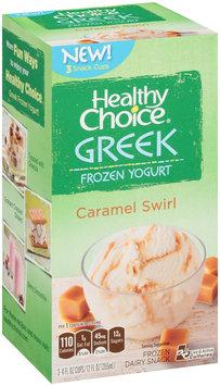 Healthy Choice® Caramel Swirl Greek Frozen Yogurt Frozen Dairy Snack 3-4 fl. oz. Cups