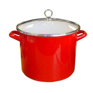 Reston Lloyd 78600 Red 8 qt Stock Pot with Glass Lid