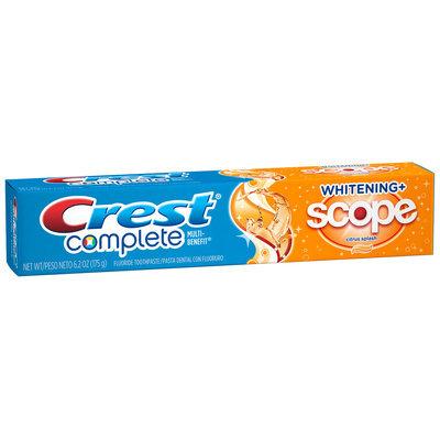 Crest Complete Multi-Benefit Whitening + Scope Citrus Splash Flavor Toothpaste 6.2 oz. Carton