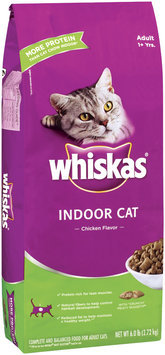 Whiskas Indoor Cat Chicken Flavor Adult 1+ Years Dry Cat Food 6 Lb Bag