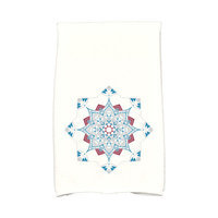 E By Design Jump for Joy Snowflake Star Hand Towel