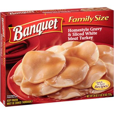 Banquet® Homestyle Gravy & Sliced White Meat Turkey 26 oz. Box