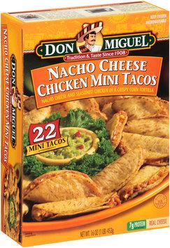 Don Miguel® Nacho Cheese Chicken Mini Tacos 22 ct Box