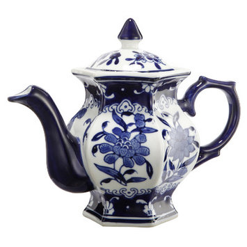 A & B Home Group Inc French Chic Garden Ceramic Teapot