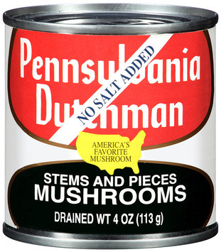 Pennsylvania Dutchman Mushrooms Stems and Pieces No Salt Added 4 oz. Can