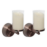 Luminara Set of Two Bronze Wall Sconces with 5