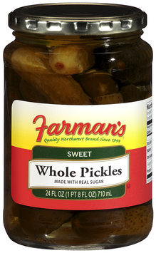 Farman's®Sweet Whole Pickles 24 fl oz Jar