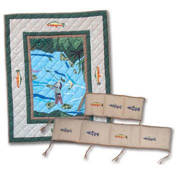 Patch Magic Fly Fishing 9 Piece Crib Bedding Set