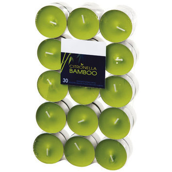Light In The Dark Citronella Soft Scented Tea light Candles (Set of 30) Color: Green Bamboo