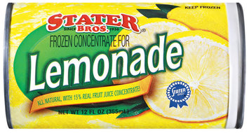 Stater Bros. Frozen Concentrate Lemonade 12 Oz Can