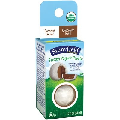 Stonyfield® Coconut-Chocolate Organic Frozen Yogurt Pearls 1.7 fl. oz. Box