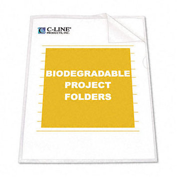 C-Line 62627 Biodegradable Project Folders Polypropylene Letter Size 25/box