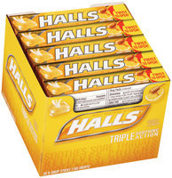 Halls® Honey-Lemon Cough Suppressant/Oral Anesthetic Menthol Drops 20 9 ct Packs