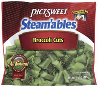 STEAM'ABLES ALL NATURAL Cuts Broccoli 10 OZ STAND UP BAG