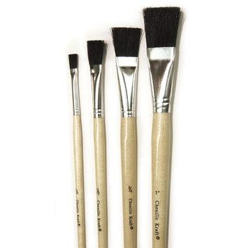 Chenille Kraft Economy Black Bristle Easel Brush - 1/2