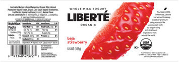 Liberte® Baja Strawberry Organic Whole Milk Yogurt