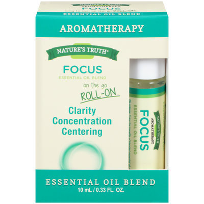 Nature's Truth® Aromatherapy Focus On The Go Roll-On Essential Oil Blend 0.33 fl. oz. Box