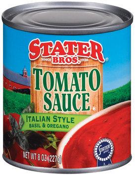 Stater Bros.  Italian Style Basil & Organo Tomato Sauce 8 Oz Can