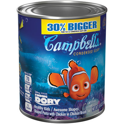 Campbell's Disney Pixar Finding Dory Healthy Kids/Awesome Shapes Condensed Soup 10.5 oz.
