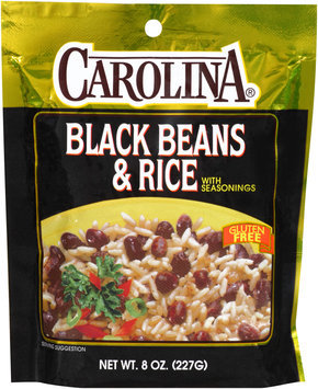 Carolina® Black Beans & Rice with Seasonings 8 oz. Bag