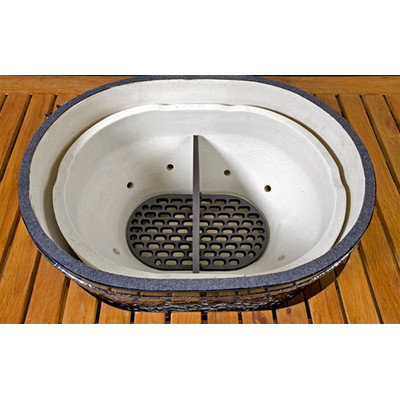 Primo Grills Cast Iron Divider for Extra Large Oval Grill