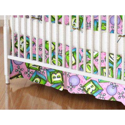 Stwd ABC Blocks Crib Skirt Color: Pink